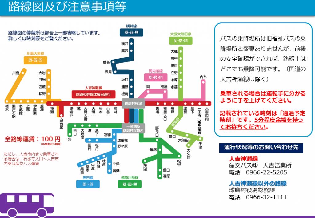 コミュニティバス路線図