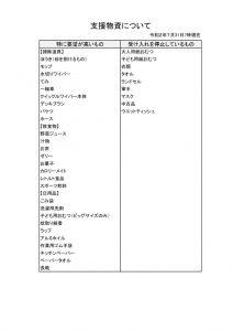 支援物資(令和2年7月31日)のサムネイル