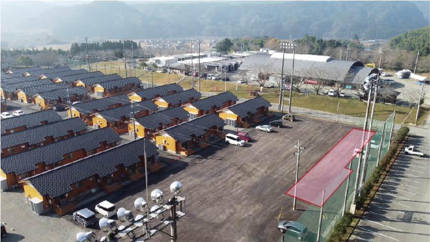 仮設施設整備予定地